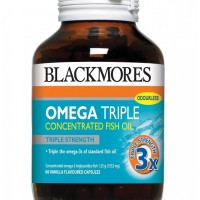 Jual Blackmores Omega 3 TRIPLE Strength Fish Oil - Vanilla Flavour Murah