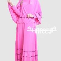 Shafeeya Syar'i Gamis New Najwas - Pink
