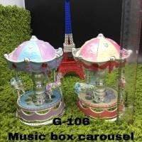 KOTAK MUSIK KUDA KOMEDI PUTAR / MUSIC BOX CAROUSEL