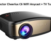 Projector Cheerlux C6 WIFI Anycast + TV Tuner, Teknologi Terbaru