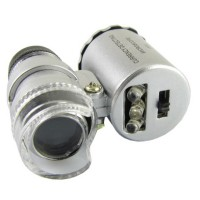 Jual Mini zoom 60X LED Light Microscope + UV ultraviolet mikroskop akik Murah