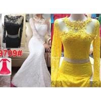 Long Dress 9709/ Baju Pesta/Baju Muslim/ Baju Brokat Impor