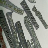 Afdruk Plat Klise Matras Hot Print Poly Emboss Logo Merk Emblem dll.