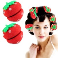 Jual Strawberry Curler Sponge - Spon Strawberry Pengeriting Rambut 6 Pcs Murah