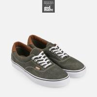ORIGINAL Vans U Era 59 Washed Hrrngbne Brown Stripe Unisex Sneakers