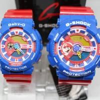 G SHOCK GA 110 SEPASANG GLOSSY RED BLUE