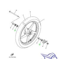Bearing / Laher Roda Depan 6201, 6301 Vixion 2007-2012 Yamaha Genuine