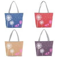 tas wanita _ Desigual Dandelion Canvas Bag Flowers Women Handbag Shou
