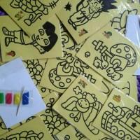 Jual Mainan edukasi kreatif mewarnai dengan pasir warna Murah