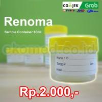 RENOMA Sample Container 60ml skala / Pot urin / pot dahak / pot sputum