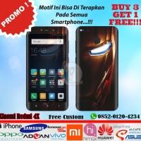 [Promo] Garskin Xiaomi Redmi 4X Motif Iron Man - Free Custom Gambar