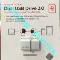 Jual SanDisk Ultra Dual USB Drive 3.0 OTG 32GB Putih Garansi Resmi Original Murah