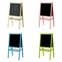 IKEA MALA Papan Tulis Anak Blackboard dan Whiteboard 2 in 1