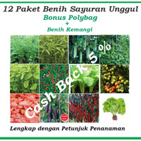 Jual Paket Hemat Benih/Bibit Eceran  (Sayuran dan Buah) Murah