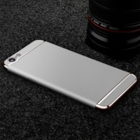 Casing HP 3 in 1 Protection Case Silver Oppo A39 / A57