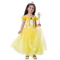 GA2434 PRINCESS BELLE DRESS [bajukiddie] dress anak perempuan frozen