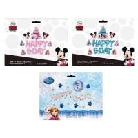 Balon Foil Huruf HAPPY BDAY SET Mickey & Frozen Star Cake Birthday
