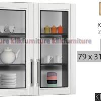KCA 5122 Sucitra Kitchen Set Atas 2 Pintu Kaca