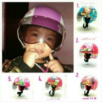 Jual Helm Anak 1-5 th Chip Kulit Sofia, Littlepony, hellokitty, fro Disk Murah