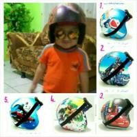 Jual Helm Anak 2-6 th Pororo Kulit Doraemon, Transformer, Cars, Bob Disk Murah