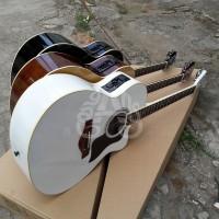 Gitar Akustik elektrik taylor custom eq7545r komplit murah