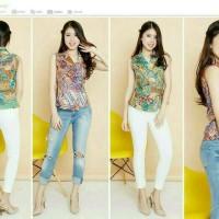 Jual Baju Atasan Blouse Wanita S263 Murah