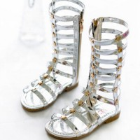 GLADIATOR SHOES KIDS SIZE 31-35 ONLY READY SILVER