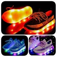 Sepatu anak LED 31-35 Yeezy 580 Sport