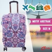 Jual sarung koper size Medium elastis melar pelindung koper luggage cover . Murah