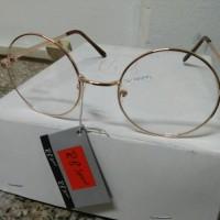 Jual kacamata korea murah kacamata bulat gold Murah