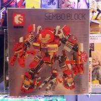 Sale Lego sembo block 60001 Hulkbuster ironman mk 16 339pcs