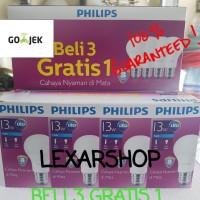 Jual Paket Lampu Bohlam Led BELI 3 GRATIS 1 PHILIPS 13W | Putih Murah