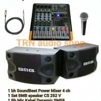 harga Paket Sound Bmb Speaker 8in & Power Mixer Soundbest 4ch & Mic Kabel Tokopedia.com