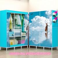 Jual MHR30 BLUESKY  lemari pakaian ukuran besar JUMBO Murah