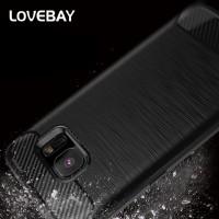 Lovebay Carbon Fiber Soft Case Samsung Galaxy J2 J5 J7 Prime