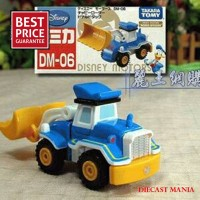Diecast Disney Motors Dm 06 Chubby Loader Donald Duck Merk Takara Tomy