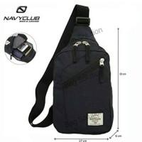 Navy Club Tas Travel - Tas Punggung Tahan Air - Sling Bag 5032 - Hitam