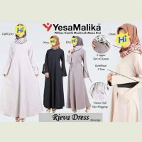 rieva dress gamis basic plain