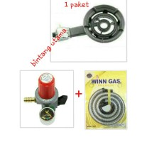 paket kompor cor winn/martabak w-31A(besar)+regulator+selang winn,aman