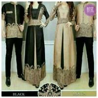 Jual couple baju muslim / couple elegan batik - elegant Murah