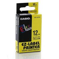 Jual EZ-Label Printer Casio 12mm Black hitam Ink Yellow kuning XR-12YW1 ok Murah