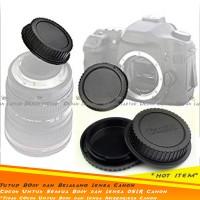 Set Body & Rear Cap Tutup Bodi & Lensa Belakang Kamera DSLR Canon