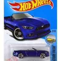 2015 Ford Mustang GT Convertible BIRU / BLUE - Hot Wheels HW Hotwheels