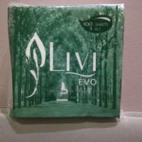 Tisu / Tissu / Tissue Livi Evo Premium Napkin MG White Luncheon 100s