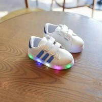 Sz 26-30 BLUE Sepatu Adidas Fashion Led Premium
