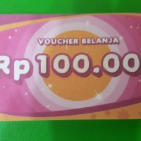 Voucher Hypermart nominal 100rb