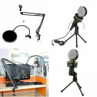 Condenser Microphones SF-930 + stand arm + pop filter