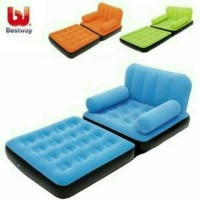 PAKET Sofa Bed Single 2 in 1 + Pompa Injak + Repair Kiy