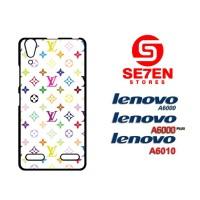 Casing HP Lenovo A6000, A6010, A6000 Plus Louis vuitton multicolor Cus