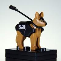 Lego K9 Police Dog German Shepherd Anjing Pelacak Custom Sidan Toys